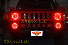ORACLE Hummer H3 2006-2010 RED LED Headlight Halo Angel Eyes Kit