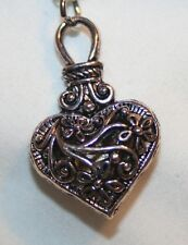 Lovely Swirled Hollowed Floral Heart Pendant Necklace  +++++