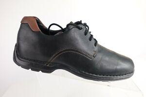 COLE HAAN Zeno Lace Black Sz 8.5 M Men Leather Driving Moccasin Oxfords