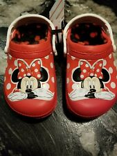 Girls CROCS Minnie Mouse Toddler Youth Sz 12/13 NEW!
