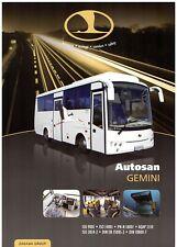 Autosan Gemini Intercity Bus 2011-12 UK Market Single Sheet Sales Brochure