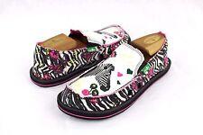 Sanuk Zebra Floral Scribble Sidewalk Surfer Shoes Youth Size 6 Us