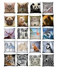 """Luxury Digital Printed 3D Animal Themed Square Cushion Covers (18"""" x 18"""") Cute"""