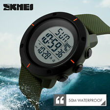 SKMEI Waterproof  LED Digital Mens Watch Sport Quartz Analog Military Wristwatch