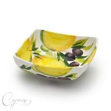 BASSANO runde Oliven Keramikschale Ausgefallene italienische Keramik 25x13 NEU