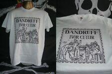 IVOR CUTLER- DANDRUFF- EXCELLENT 1974 ALBUM ART  PRINT T SHIRT- WHITE- LARGE