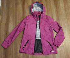 Womens Chillax Rain Coat Wind Breathable Shell Berry Purple Jacket Hooded Small