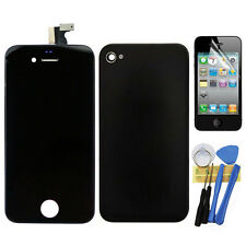 LCD Touch Screen Glass Digitizer+Back Cover Assembly for iphone 4S Black + Tools