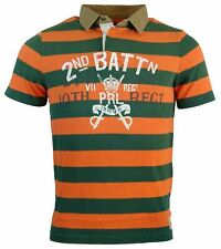 Polo Ralph Lauren Men's Custom Fit Graphic Polo Shirt-Orange and Green-L