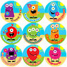 144 Monster Flowers Praise Words 30mm Kid's Reward Stickers for Teacher, Parent