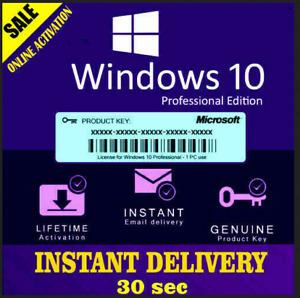 Windows10 Pro ✔️Key License 32-64 bit Activation ✔️Genuine Key ✔️ 5S DELIVERY