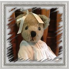 """Ganz Mary Holstad 15"""" Jointed Bear Synthetic Mohair Christening Gown REDUCED!"""