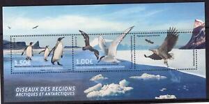 Französische Gebiete Antarktis TAAF postfrisch 2017 Block Pinguine & Vögel
