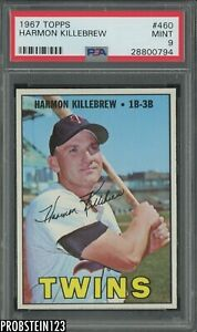 1967 Topps #460 Harmon Killebrew Minnesota Twins HOF PSA 9 MINT