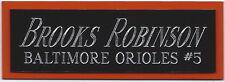 BROOKS ROBINSON NAMEPLATE AUTOGRAPHED SIGNED Baseball Display CUBE CASE