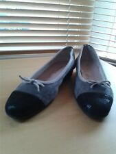 Lady's Shoes Manuka size 39 Grey/Black Leather