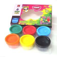 Master Arts Kids Child Washable Finger Painting Hand Paint Set 6 Colors 3y+