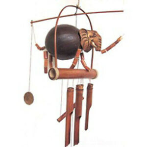 Elephant Wind Chime, bamboo and coconut