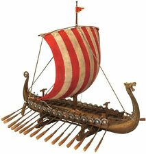 Dragon Headed Viking Museum Replica Model Ship with Display Stand new