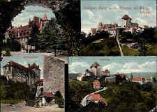 Burg an der Wupper Schloss Mehrbild-AK AK 1913 Stempel Solingen n/ Meinersdorf