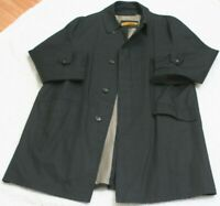 Plymouth Jacket Coat Black Men's Button Up 40 Forty Man's Solid Weather Ready