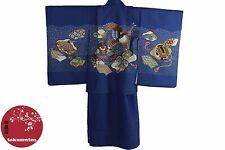 KIMONO JAPANESE MADE IN JAPAN AUTHENTIQUE YUKATA 7 5 3 BOYS SAMURAI KABUTO