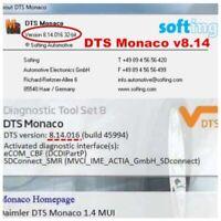 2019.05 last DTS Monaco V8.14 dts 8.14.016 for mb star c4 sd c5 vci c6 xentry/da