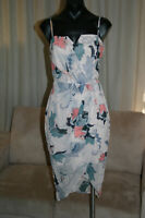 Cooper St Dress, Beige with Multi-coloured Flowers, AU10, Pre-Owned, VGC
