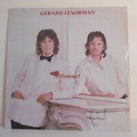 """33T Gérard LENORMAN Disque LP 12"""" ...D'AMOUR ! - CAROLINE MELODY 67832 F Rèduit"""