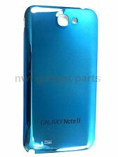 New BLUE Chrome Mirror Battery Back Cover For Samsung Galaxy note 2 N7100 US FL