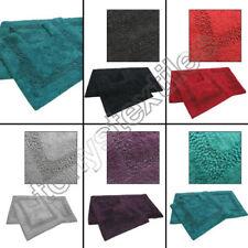 2 Articles et textiles rouges coton pour la salle de bain