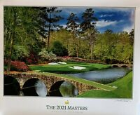 2021 Masters golf poster augusta national course artist signed pga