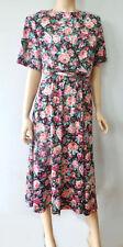 Vintage 80s Marcel Soft T shirt Cotton Blend Full Secretary Dress L XL Floral