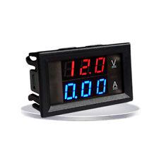 DC 100V 100A Voltmètre Ampèremètre Bleu+Rouge LED Digital Volt Amp Jauge.
