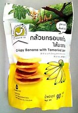 90g.Crispy banana with tamarind jam, transfat,healthy snack thai fruit products.