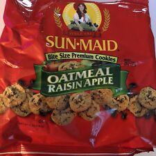 Sun Maid Bite Sized Premium Oatmeal Raisin Apple Cookies 5oz **4 Bags**
