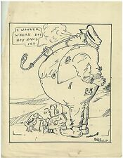 Original Art Work Ruth M Sherwood Pen & Ink Cartoon