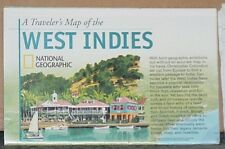 Vintage 2003 National Geographic Map of the West Indies