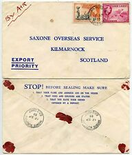 Gold Coast Nkonya wurupong village Marques postales Airmail à Scotland 1955