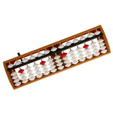 13 Rods White Plastic Beads Abacus Soroban Calculating Tool Educational Toy