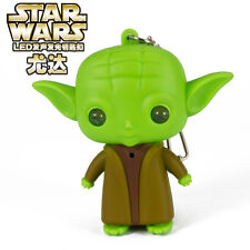 Star Wars Yoda Led Light Up Keyring Key Chain Great Gift For All Star Wars Fans