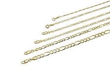 """14k oro amarillo macizo Collar Cadena Fígaro 1.3-11.5mm para hombres Para mujeres talla 16"""" -36"""""""