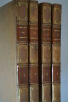 Oeuvres de Lamartine / Gosselin et Furne 1832 / 4 volumes / Reliure Thompson