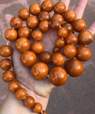 New listing Antique GERMAN PRESSED AMBER BALTIC Egg Yolk Butterscotch 162Gr Necklace BeadS
