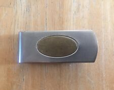 Money Clip Made Usa Vintage Silver Tone And brass