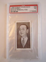 1938 SAM RUSSELL BOXING CHURCHMAN PSA GRADED 7 NEAR - MINT CARD