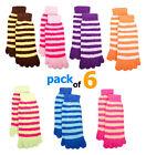 6 Pk Cool Socks or Toe Socks For Women - Toe Socks (Assorted Fuzzy Design)