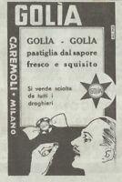 Y3352 Caramelle GOLIA - Pubblicità d'epoca - 1935 vintage advertising