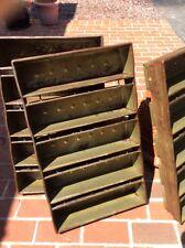 Antique Circular 1800s Large Chicago Metallic Metal 5 Strap Bread Baking Pan -