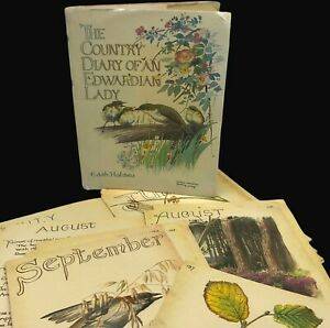 Junk Journal Ephemera Nature Edith Holden Country Diary Book Pages 88 to 137
